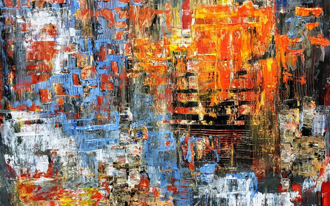 Abstraction en 4 couleurs