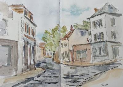 Rue à Montfort l'Amaury