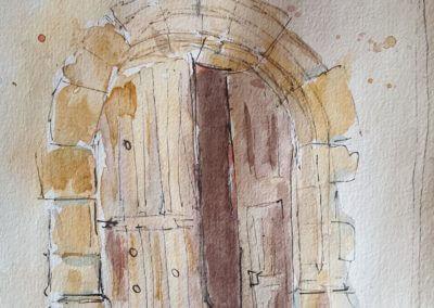 Porte de l'église Saint Martin, Thoiry, Yvelines